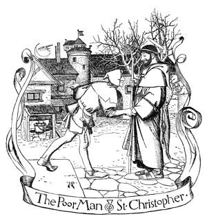 PYLE: SAINT CHRISTOPHER. 'The Poor Man and Saint Christopher