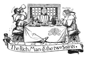 PYLE: SAINTS, 1886. 'The Rich Man and the Two Saints