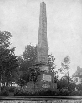 QUEBEC: MONUMENT, c1890. The monument to James Wolfe and Louis-Joseph de Montcalm