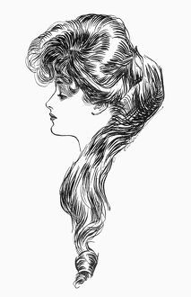 'The Question Mark.' Drawing, 1903, by Charles Dana Gibson.