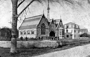 QUINCY: ADAMS ACADEMY. A preparatory school opened in 1872 at Quincy, Massachusetts
