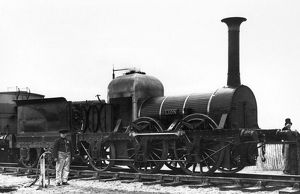 RAILROAD: LOCOMOTIVES. The 'Lion' locomotive, built by the firm of Todd, Kitson