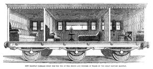 RAILWAY CARRIAGE, 1864. Railway carriage for the Prince and Princess of Wales