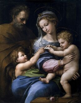 RAPHAEL: VIRGIN OF THE ROSE. 'The Virgin of the Rose.' Oil on canvas, Raphael