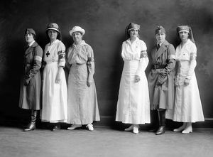 red cross salvation army/red cross corps c1920 group american red cross