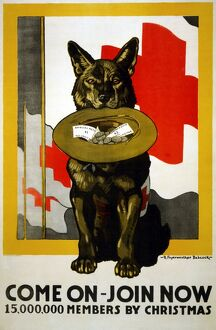RED CROSS POSTER, 1917. American Red Cross recruiting and fundraising poster