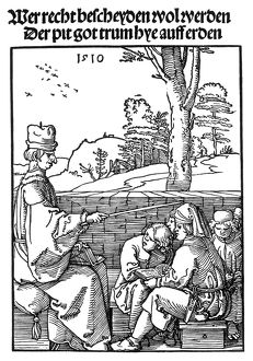 RENAISSANCE SCHOOL, 1510. The Schoolmaster. Woodcut, 1510, by Albrecht Durer