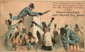 african american history/revival meeting 1882 american trade card 1882