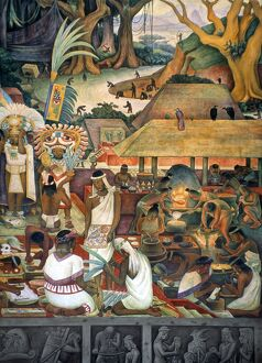 RIVERA: PRE-COLUMBIAN LIFE. 'The Zapotec Civilization
