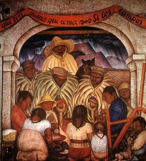 RIVERA: RAIN. Mural by Diego Rivera at the Ministry of Public Education, Mexico City.