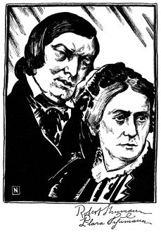 ROBERT SCHUMANN (1810-1856). German composer. Schumann with his wife, German pianist