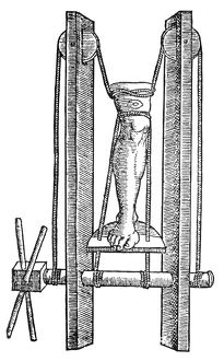 A Roman extension mechanism for treating dislocated knees.