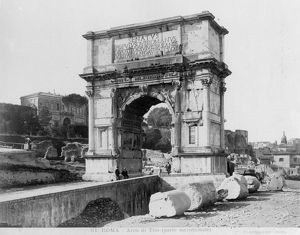 ROME: ARCH OF TITUS, 1900. The Arch of Titus, photographed c1900