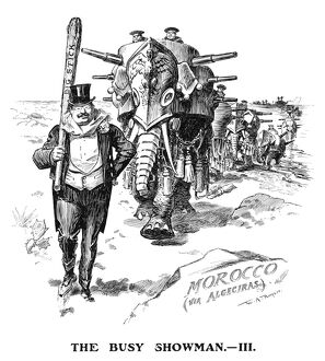 presidents/roosevelt cartoon 1906 the busy showman