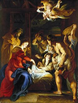 RUBENS: ADORATION, c1608. /n'Adoration of the Shepherds
