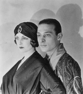 RUDOLPH VALENTINO (1895-1926). American (Italian-born) film actor. With his wife