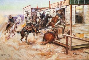 RUSSELL COWBOY ART, 1909. 'In Without Knocking