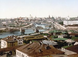 RUSSIA: MOSCOW, c1895. View of Moscow, Russia. Photochrome, c1895.