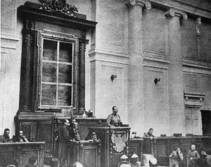 RUSSIA: REVOLUTION OF 1917. The first session of the Duma of the Provisional Government, March 1917