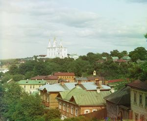 RUSSIA: SMOLENSK, 1912. City of Smolensk, Russia, with a view of the Assumption