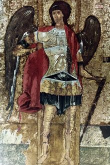 RUSSIAN ICONS: MICHAEL. The Archangel Michael. Moscow School. Mid-15th century.