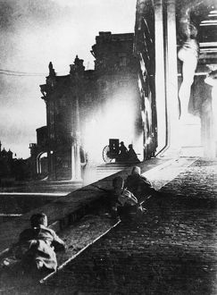 RUSSIAN REVOLUTION, 1917. Bolshevik attack on the Winter Palace, 1917