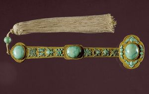 A 'ruyi' scepter and tassel with Buddhist symbols, presented to Emperor Ch'ien