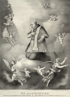 SAINT ALPHONSUS LIGUORI (1676-1787). Italian Catholic Bishop, theologian, and founder
