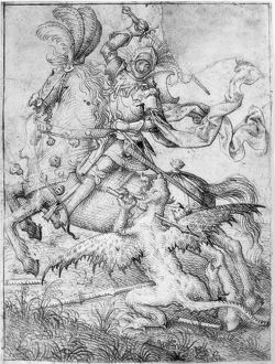 SAINT GEORGE & THE DRAGON. Saint George slaying the Dragon