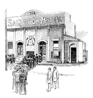 SALVATION ARMY, 1891. The Salvation Army headquarters in New York City. Engraving