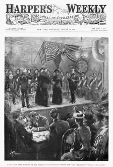 SALVATION ARMY, 1891. 'A Salvation Army wedding at the barracks on Fourteenth Street