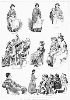 SALVATION ARMY: WOMEN, 1888. 'The 'Slum Sisters' Service of the Salvation Army