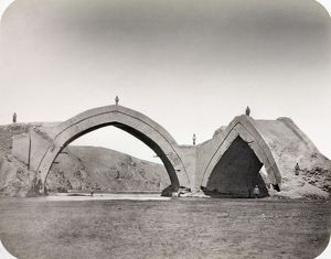 SAMARKAND: BRIDGE, 1872. Ruins of the bridge of Shadman Malik. Photograph by N.V