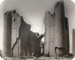 SAMARKAND: MADRASAH, c1870. Madrasa, or Islamic educational center, of Bibi Khanum