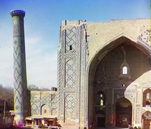 SAMARKAND: MADRASAH, c1915. The Ulugh Beg Madrasah, built in the early 15th century