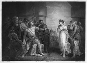 SAMSON AND DELILAH. Scene from Judges 16:21 'The Philistines took him, and put