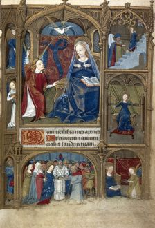 SCENES FROM VIRGIN'S LIFE. Scenes from the life of the Virgin. Illumination, c1485