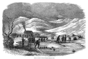 SCOTLAND: CURLING, 1854. 'Medal Match of the Fingask Curling Club' in Scotland