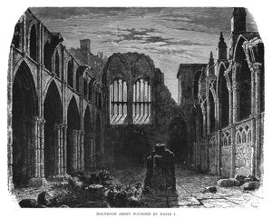 SCOTLAND: HOLYROOD ABBEY. Ruins of Holyrood Abbey, founded in 1128 by King David