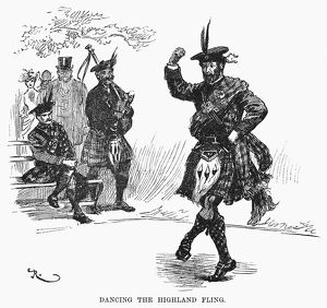 SCOTTISH DANCE, c1894. 'Dancing the Highland Fling.' Illustration by W.A
