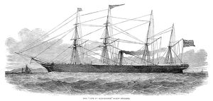 SCREW STEAMSHIP, 1851. The 'City of Manchester' screw steamer, launched