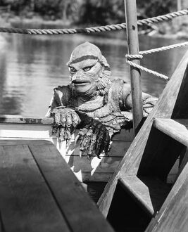 SEA MONSTER, 1953. Ricou Browning as Gill Man in 'The Creature from the Black Lagoon