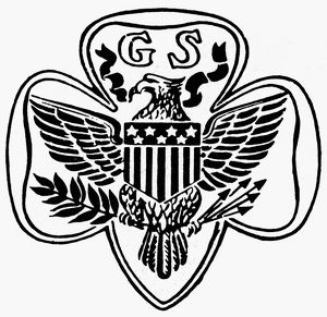 SEAL: GIRL SCOUTS. Seal of the Girl Scouts of America, founded 1912.