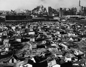 SEATTLE: HOOVERVILLE, 1933. Shacks of the unemployed in a 'Hooverville' shantytown