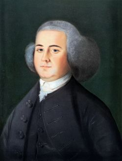 Second President of the United States. The earliest known portrait: pastel, circa 1766