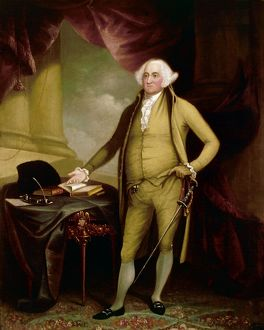 Second President of the United States. Oil on canvas, 1798, by William Winstanley.