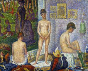 SEURAT: MODELS, c1866. /n'The Models.' Oil on canvas, c1866-8, by Georges Seurat
