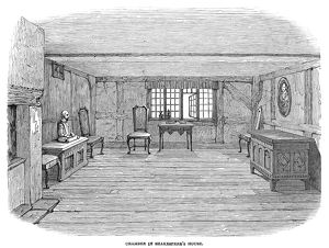 SHAKESPEARE: HOUSE. Interior of the house on Henley Street in Stratford-on-Avon