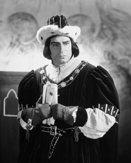 SHAKESPEARE: RICHARD III. Laurence Olivier in the title role of the 1956 film production