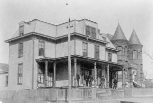 SHAW UNIVERSITY, c1899. The pharmacy building at Shaw University in Raleigh, North